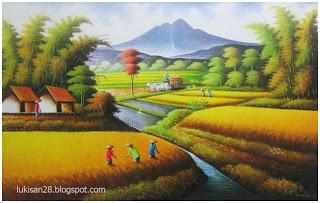 Contoh Lukisan Bertema Manusia Dengan Alam Sekitar Cikimm Com