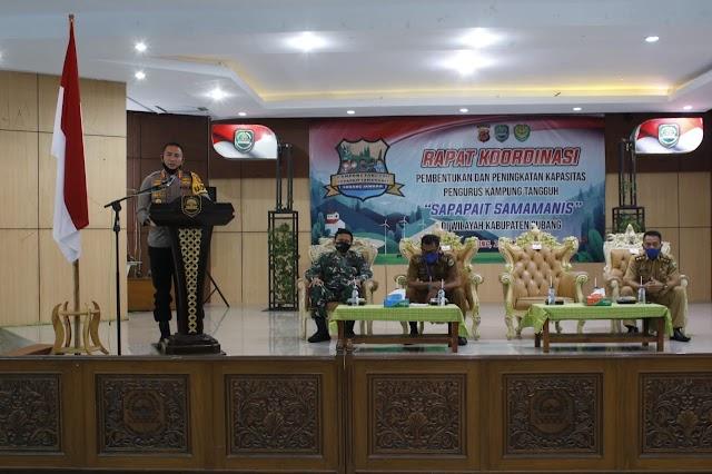 Rakor Pembentukan dan Peningkatan Kapasitas Kampung Tangguh Sapapait Samamanis