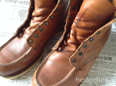 Hedgelink RED WING 875 靴ずれ続き(追記あり)