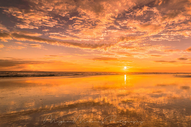 golden sand reflections waihi beach