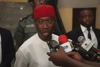 Gov. Okowa's Younger Brother Gives Delta State SSG Dirty Slap?
