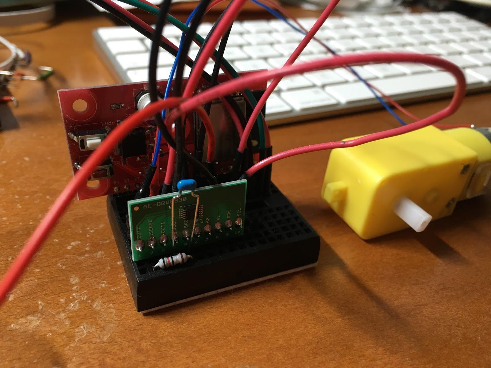 じわじわ進む: 170円でDCモータを制御(DRV8830):ESP-WROOM-02