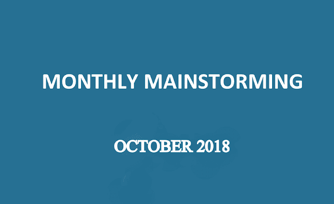 UPSC Monthly Mainstorming - October 2018 - Download pdf