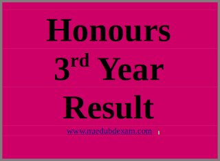 nu honours 3rd year result [session 2012-2013]