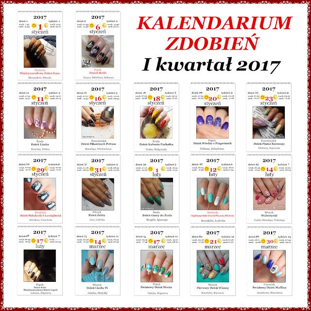 Kalendarium zdobień  - I kwartał 2017 – podsumowanie