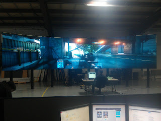 Battlefield 3 on a 24-Screen Curved Video Wall