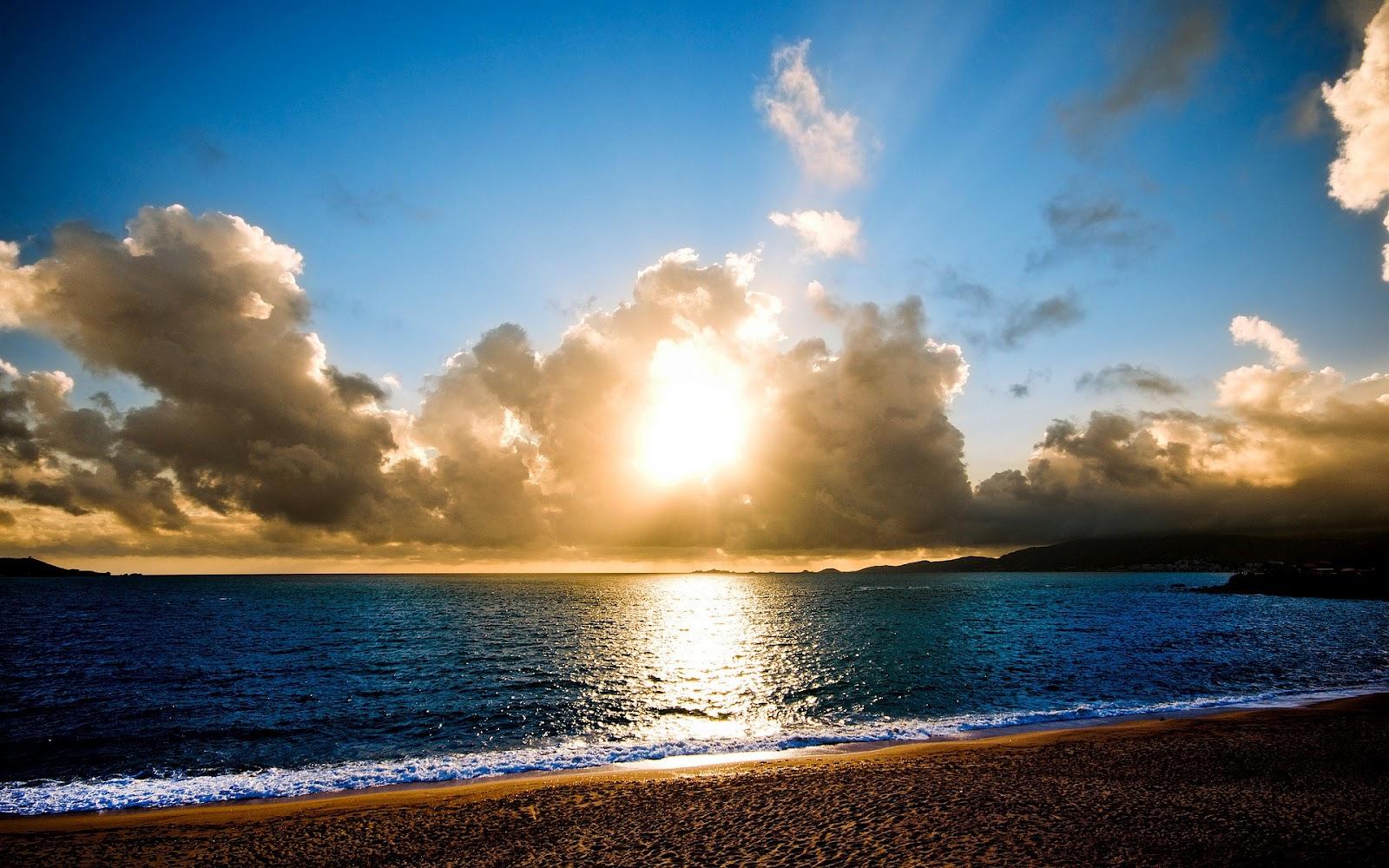 Sun Beach And Sea Wallpaper: Hermosos Paisajes De Atardeceres En Playas