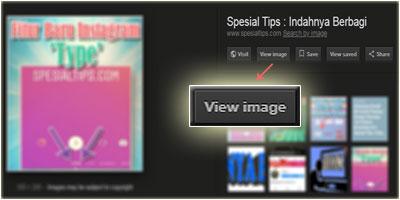 Tampilan Fitur Tombol 'View Image' Di Layanan Google Images