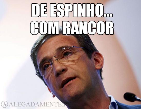 Imagem de Pedro Passos Coelho – De Espinho… com Rancor!