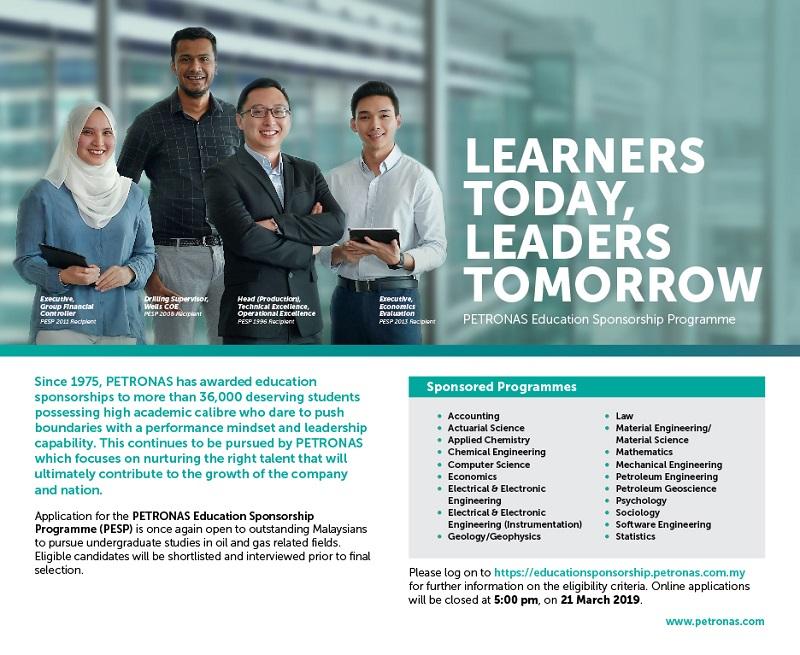Biasiswa Petronas Scholarship Education Sponsorship Programme