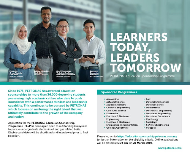Biasiswa Petronas Scholarship Education Sponsorship Programme