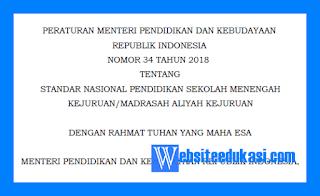 Permendikbud Nomor 34 Tahun 2018 tentang Standar Nasional SMK/MAK