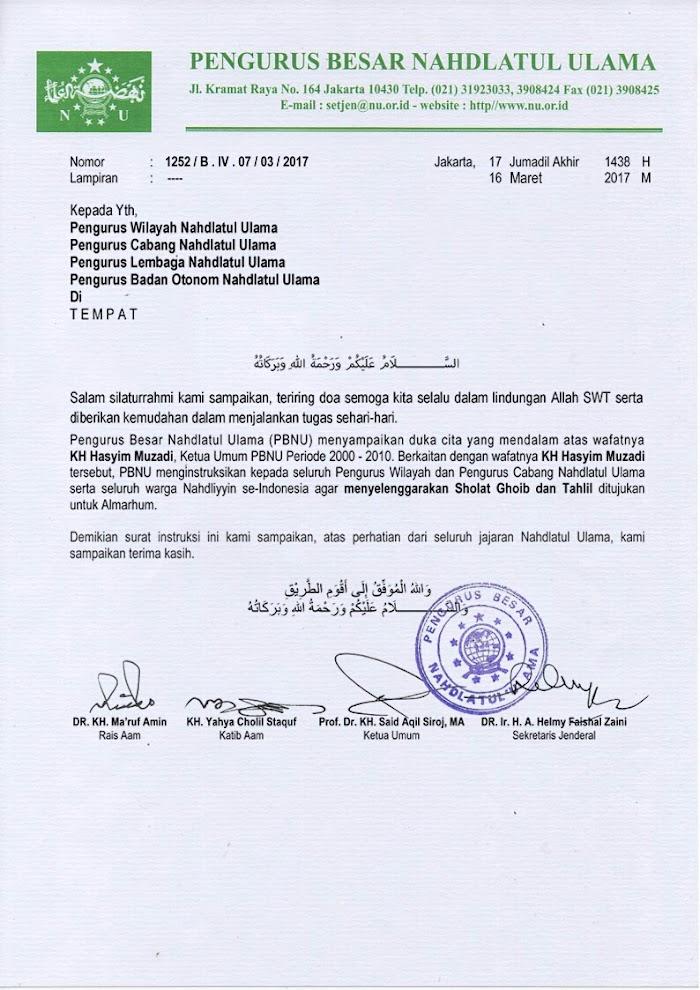 Kyai Hasyim Muzadi Wafat, PBNU Instruksikan Shalat Ghaib dan Tahlilan