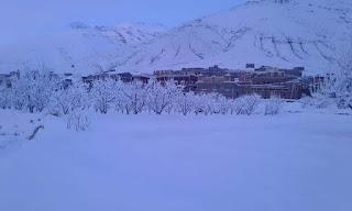 الثلوج بجبل توبقال