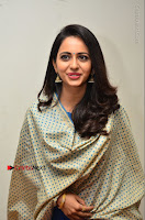 Actress Rakul Preet Singh Stills in Blue Salwar Kameez at Rarandi Veduka Chudam Press Meet  0129.JPG