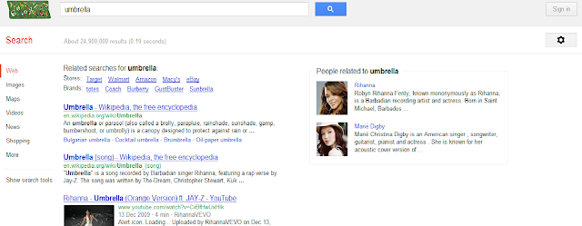 Google semantic search example