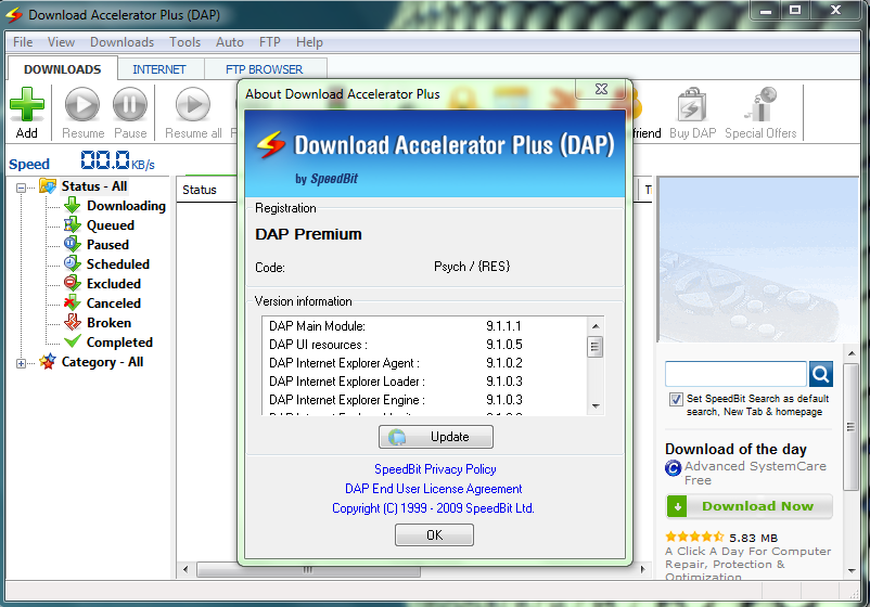 download accelerator plus dap 9.6 gratuit