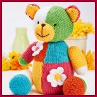 Muñeco oso de punto