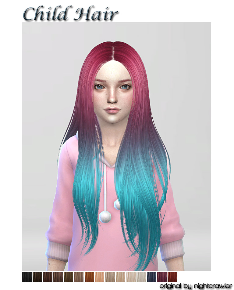 Sims 4 Hairstyles: The Best: Hair For Child By ShojoAngel