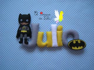 nombre-fieltro-Batman-elbosquedelulu-decoración-infantil-superheroes-regalo-personalizado-Julio-name-banner-felt-feltro-felt