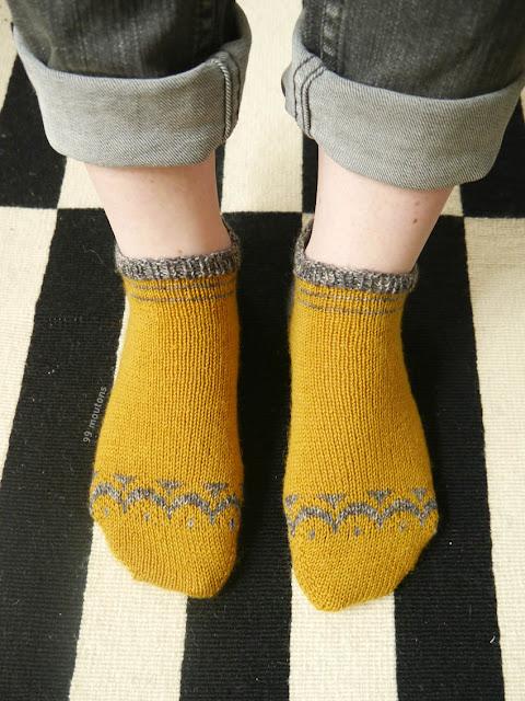 motifs Luna socks pour chaussettes tricotées main