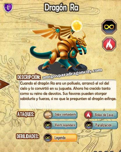 imagen de las caracteristicas del dragon ra