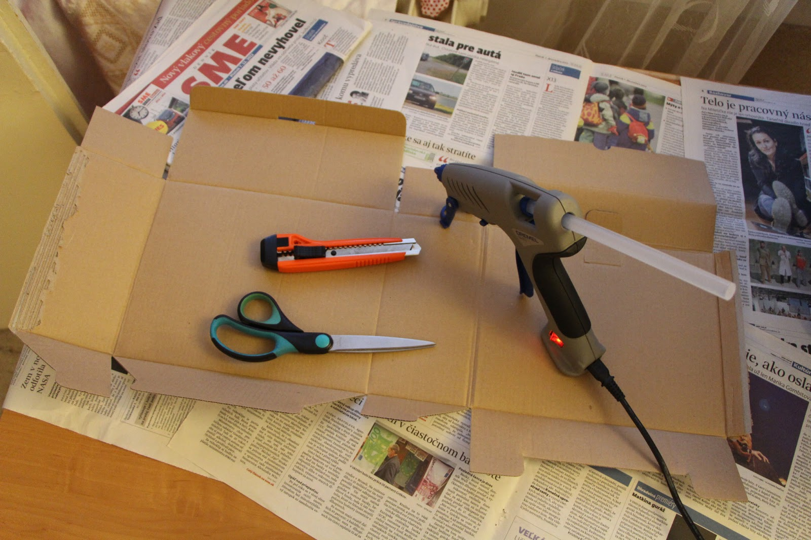 f5cea13bb Ešteže môj manžel je taký inteligentný a zručný. Vymyslel veľmi jednoduchý  a elegantný spôsob ako urobiť z rozobratej krabice maštaľku.