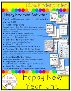 TPT Happy New Year Activities