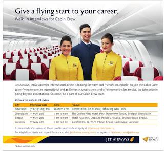 Jet airways walkin interview for cabin crew