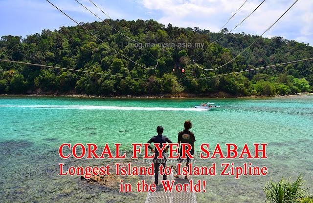Coral Flyer Zipline in Sabah