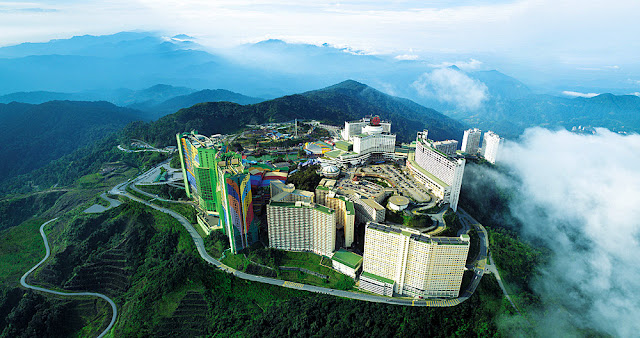 Aerial photo of Resorts World Genting Highlands