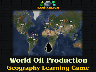 Oil Production Map Game