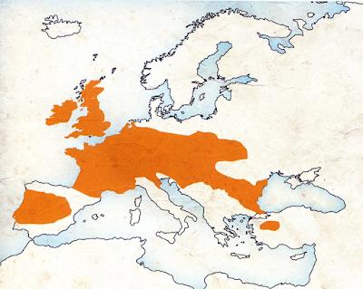Le territoire occupé par les peuples de civilisation celtique en Europe vers 350 avant notre ère.