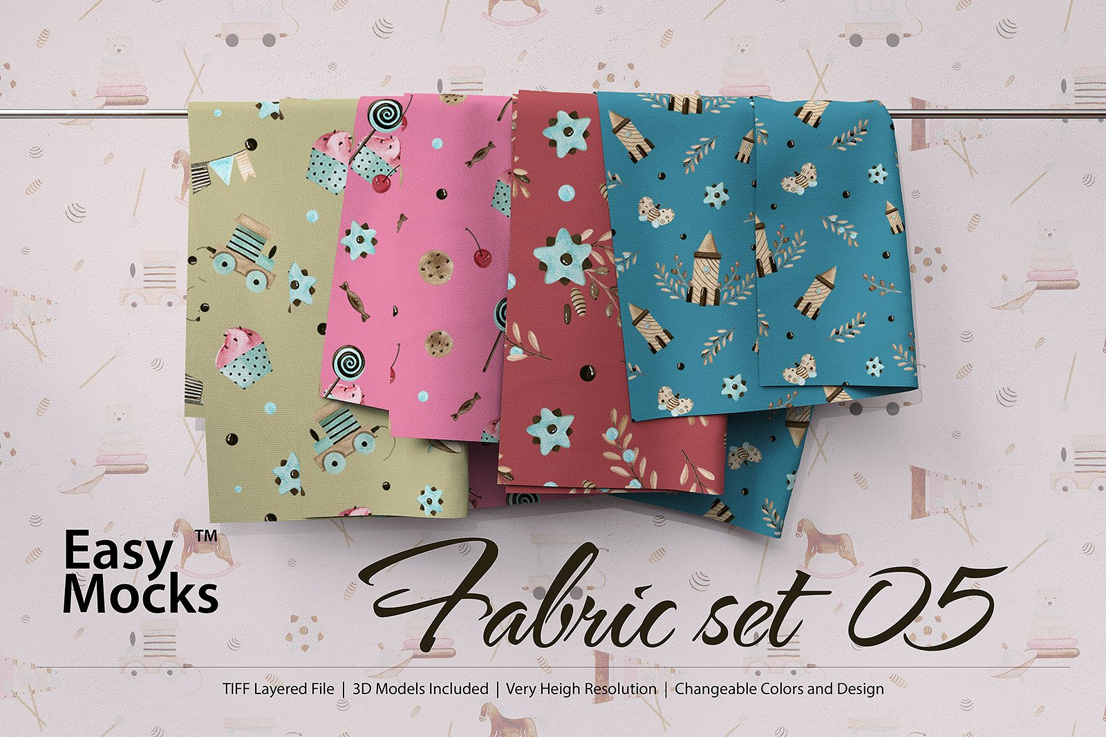 Fabric Mockup Set Five