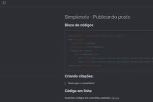 Simplenote - Publicando posts