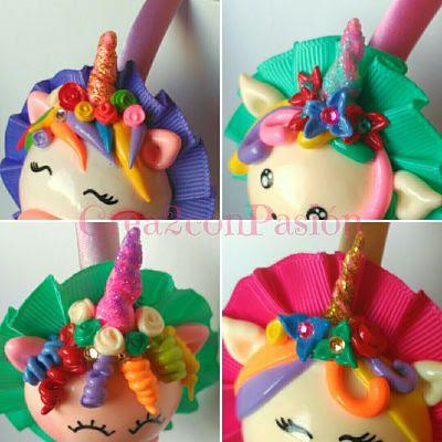 Diademas-vinchas-de-unicornio-con-pasta-flexible-y-cintas-plisadas-Crea2-con-Pasión-strass-en-flores-del-pelo