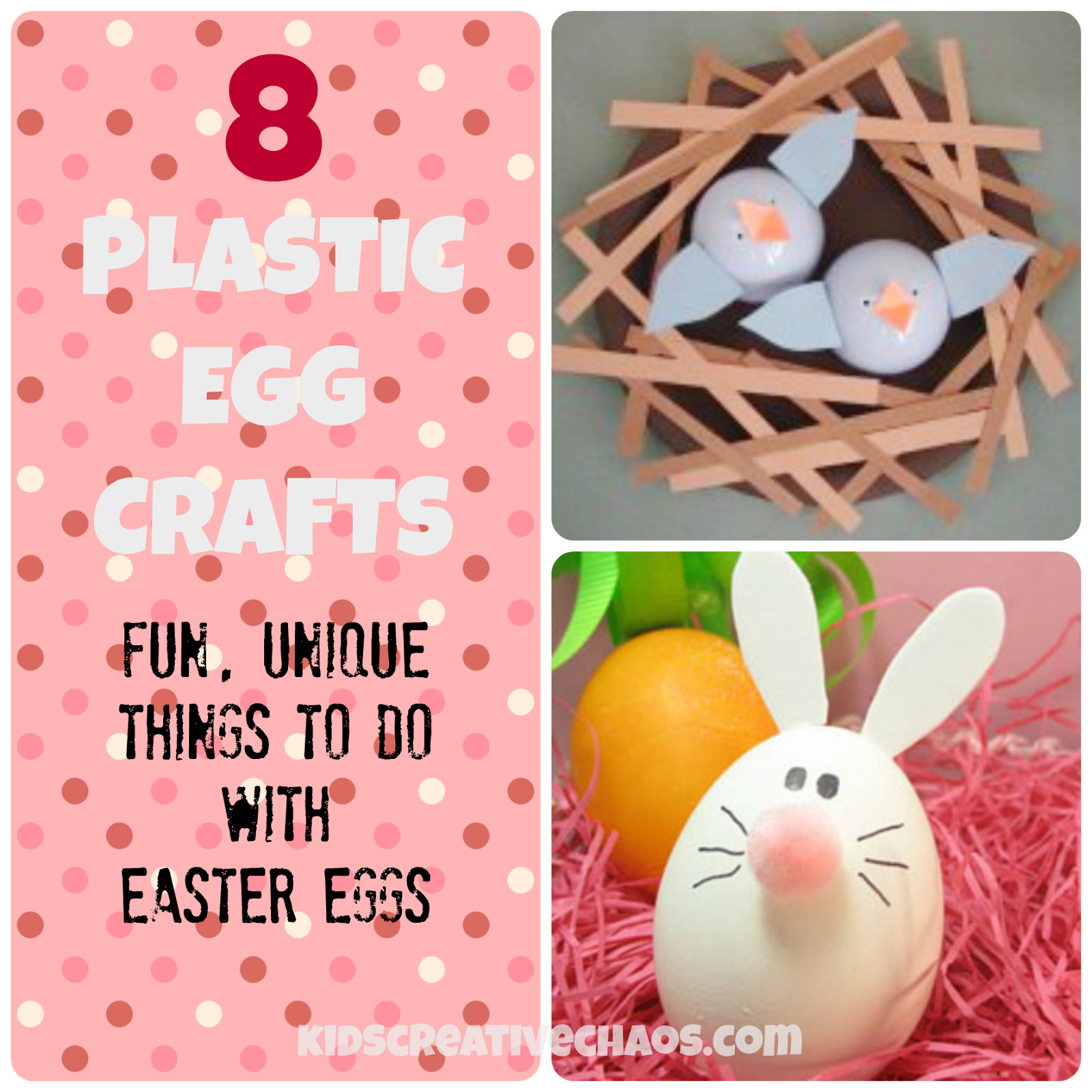 8 Fun And Easy Unique Plastic Easter Egg Crafts Including Nesting Birds