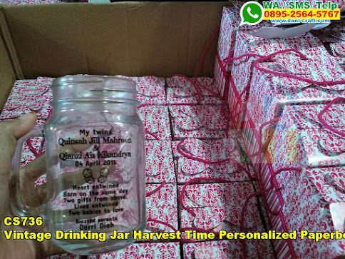 Harga Vintage Drinking Jar Harvest Time Personalized Paperbox
