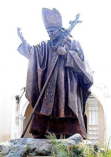 Foto de la estatua de Juan Pablo II