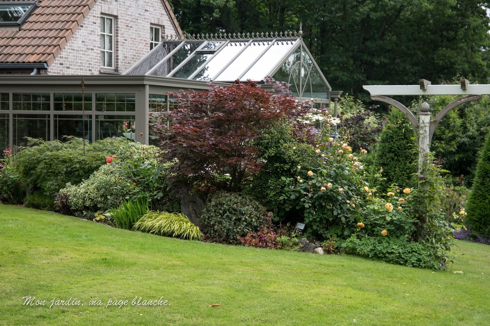 Mon jardin, ma page blanche ...