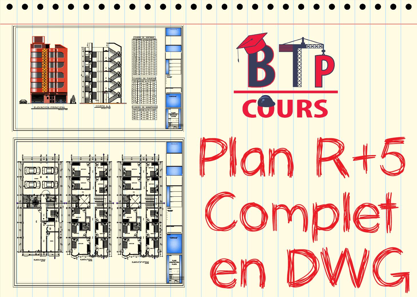Plan R 5 Complet En Dwg Doc Genie Civil