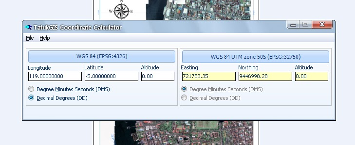mining engineering: Tatuk GIS Coordinate Calculator 2_2_0_480