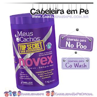 Creme de Tratamento Meus Cachos Top Secret das Poderosas - Novex (No Poo)