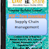 Supply Chain management PDF Study Materials cum Notes, Engineering E-Books Free Download