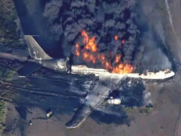 MH17 MAS airplane on fire at Ukraine shot down by missles