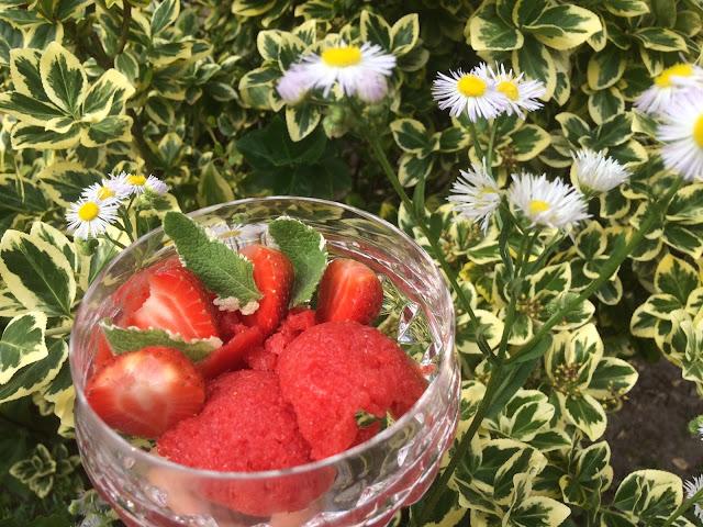sorbet truskawkowy