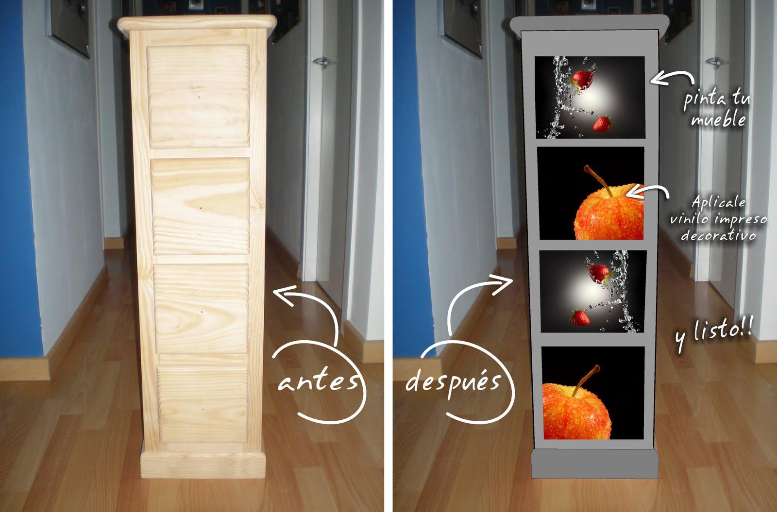 Vinilos Para Muebles Perfect Papel Para Forrar Muebles De Cocina  # Muebles Reformados