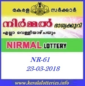 NIRMAL (NR-61) LOTTERY RESULT