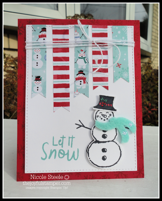 Snowman Season card from 11/5/2019 Facebook Live with Nicole Steele The Joyful Stamper