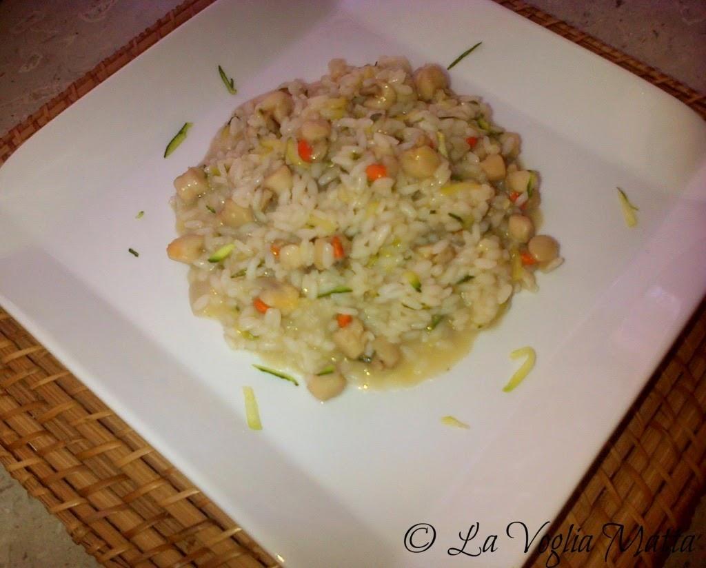 risotto con canestrelli e zucchine